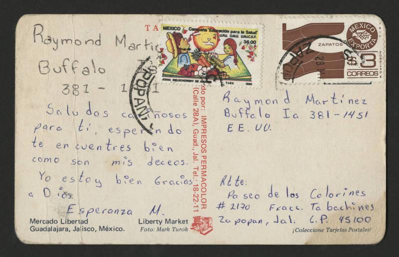 1985-05-28 Postcard - back