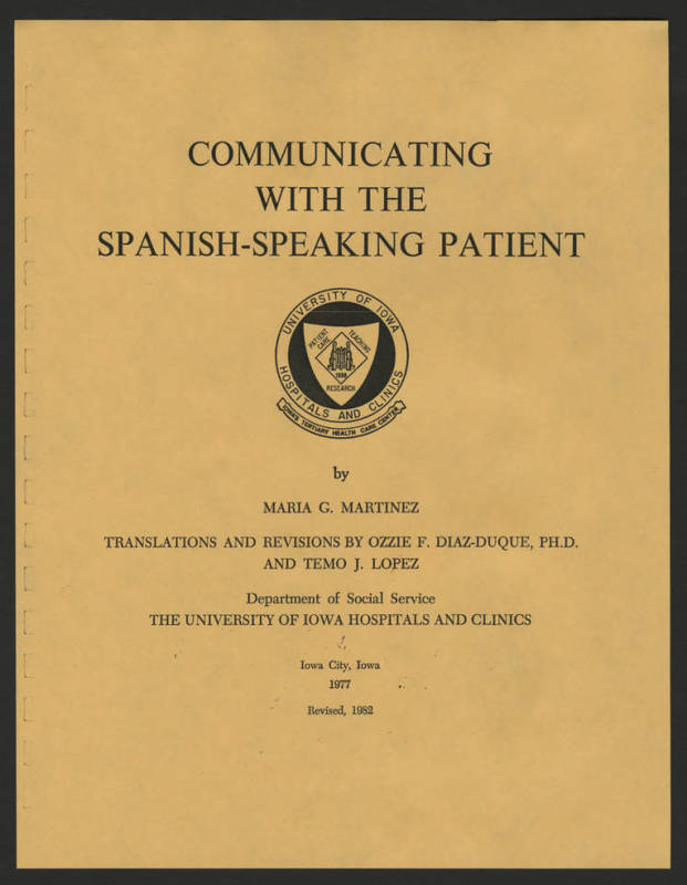 "Maria Cano Martinez, ""Communicating with the Spanish-Speaking Patient"""