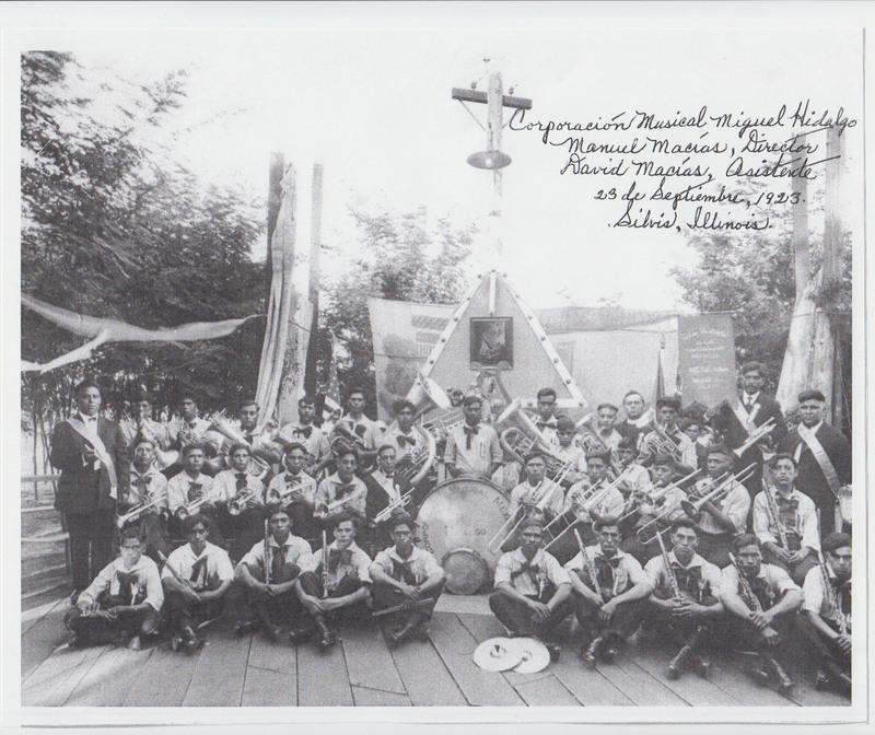 Corporacion Musical Miguel Hidalgo, Silvis, Illinois, 1923.