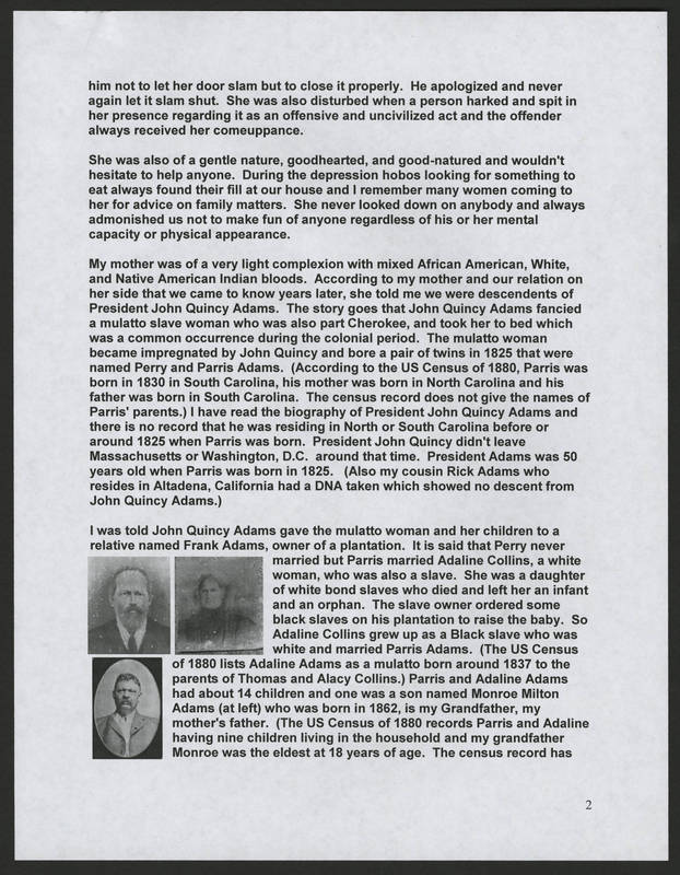 <br /> Page 2 of &quot;Rodriguez Family of Holy City Bettendorf Family Genealogy and History,&quot; by Ernest Rodriguez.