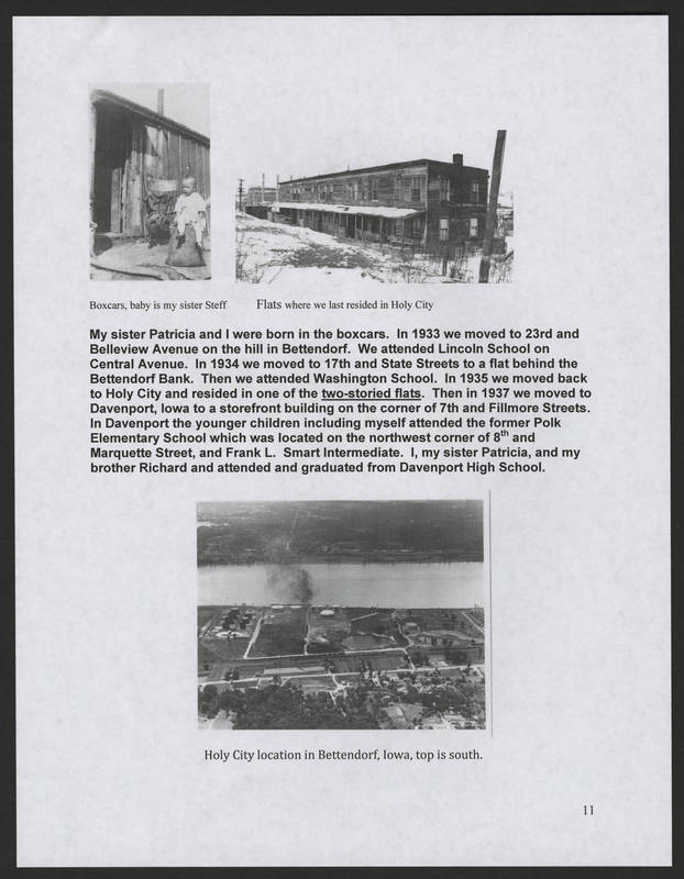 """Page 11 of """"Rodriguez Family of Holy City Bettendorf Family Genealogy and History,"""" by Ernest Rodriguez"""