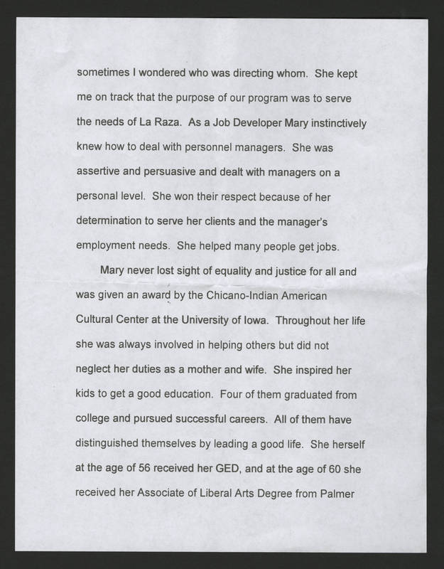 Ernest Rodriguez' Eulogy of Mary Terronez Page 2.jpg