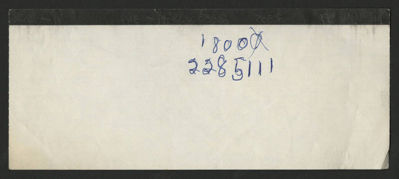 1986-07-12 Pay Stub Kahl Home for the Aged and Infirm - back
