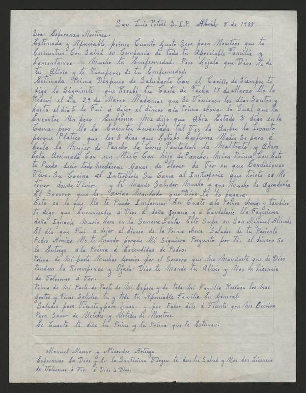 1988-04-08 Letter