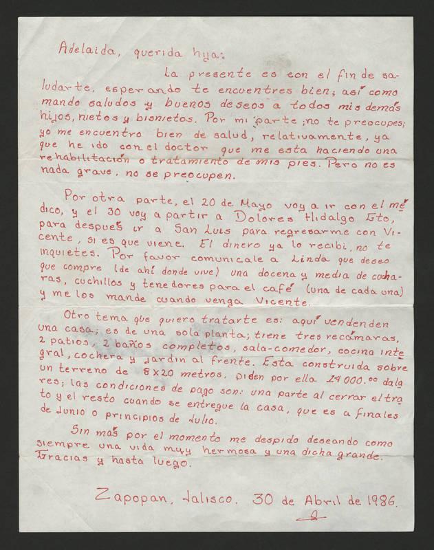 1986-04-30 Letter - front