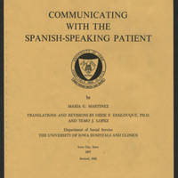 Booklet written by María Cano Martinez, 1982.