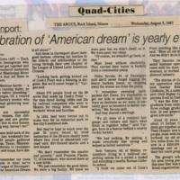 Celebrating the 'American dream'