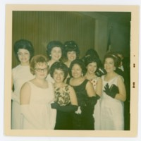 Ila Plasencia and others at the 1966 LULAC Black and White Ball.