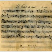 Music score for El Capote de Paseo