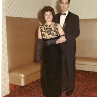 Ila and Ralph Plasencia at the LULAC Black and White Ball, 1966.