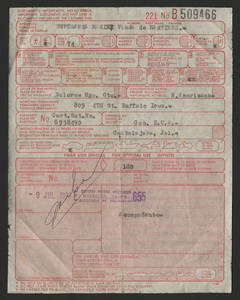 Passport of Esperanza Martinez<br />