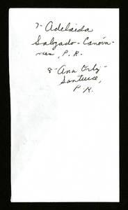 September 1945- 1st row: Maria Josephina Gordian; Maria Martinez; Blanca Vasquez Aponte, 2nd row: Felicita Gonzalez Quinones; Lorenza Calderon; Heriberta Casablanca; Adelaida Salgado; Ana Ortiz Page 3