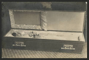 Florence Martinez in casket, 1936