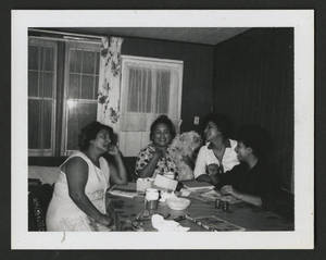 Mary Terronez with daughters Virginia, Phyllis, and Irene, Davenport, Iowa, 1966