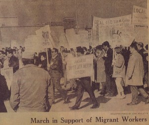 """March in Support of Migrant Workers,"" Des Moines Register, February 1969."
