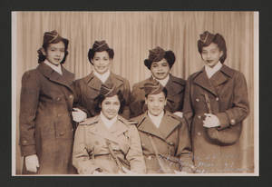 Puerto Rican Women Army Corps women at Fort Des Moines, 1945