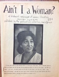 Dolores Carillo (Garcia), cover page of &quot;Ain&#039;t I A Woman?&quot;, August 1970.<br />