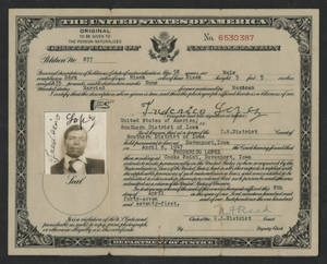 Certificate of naturalization for Federico Lopez