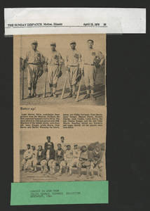 Felipe Terronez pictured in a Moline Sunday Post Dispatch photo of the 1920s Mexican All-Stars<br />