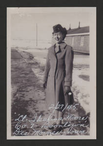 1945-02-27 Lt. Ikalina Moore Boontown, Fort Des Moines, Iowa