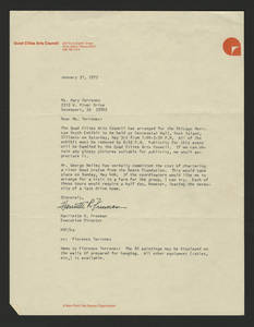 1975-01-21 Letter to Mary Terronez from the Quad Cities Arts Council