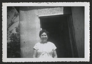 Esperanza Martinez at Cook's Point, 1950's?