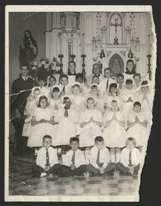First Holy Communion - Alfonso, Lola's son, Tony Constantino, 1950's or 1960's