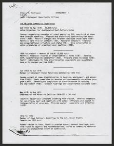 Resume of Ernest M. Rodriguez<br />