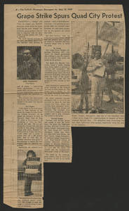 Quad City Area grape boycott news clippings