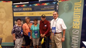 Migration is Beautiful exhibit and Iowa LULAC members at the national LULAC convention in Washington, DC.