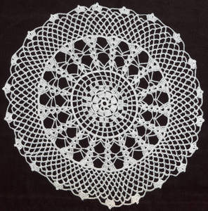 Crochet doily, 20th century