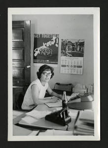 Shirley Sandage in her office