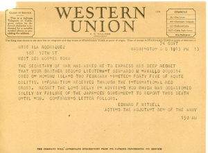 Telegram to Ila Rodriguez.