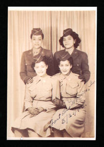Blanca Vasquez (second row left), Fort Des Moines, Iowa, 1945<br />