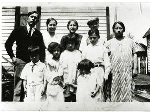 Photograph of the Vallejo family