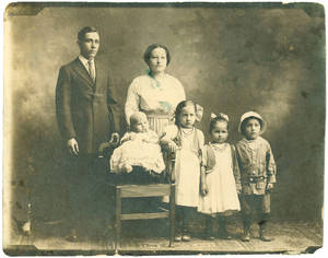 Photograph of Julius and Martina Vallejo and their children