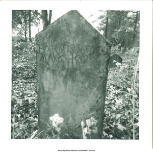 Photograph of the gravestone of Adeline Collins Adams