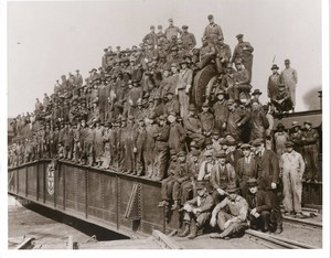 Santa Fe Railroad workers<br />