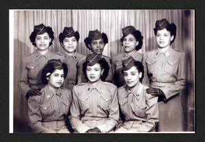 Women Army Corps women, Fort Des Moines, Iowa, 1945<br />